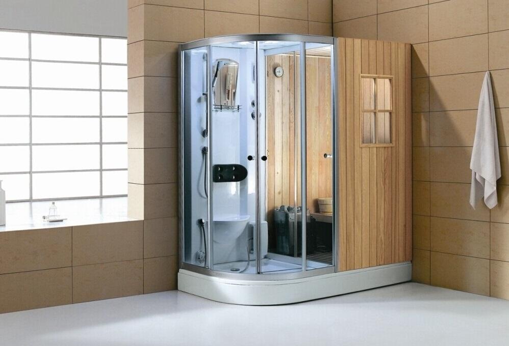 Cabina de hidromasaje con sauna br 180100 cabinas serie for Cabinas de ducha economicas