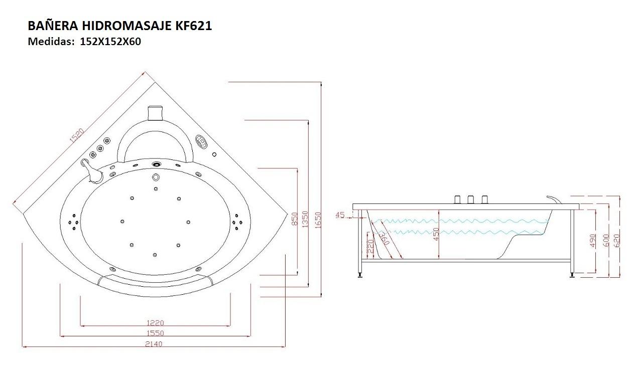 Ba era hidromasaje kf621 6 - Banera a medida ...